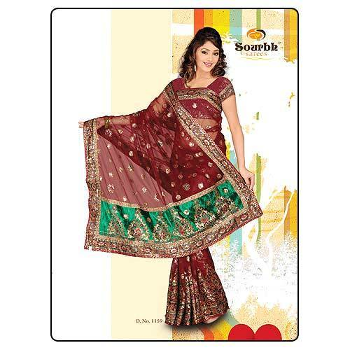 Bridal Wear Net Saree