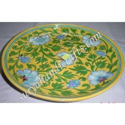 Blue Pottery Coaster Plate