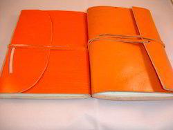 Leather Journals in Orange Color