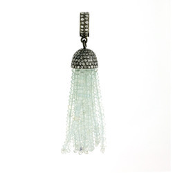 Designer Color Stone Diamond Tassel Pendants