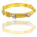Solid Yellow Gold Rose Cut Diamond Bracelets
