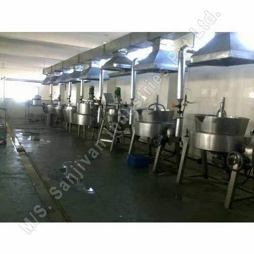 Steam Heated Sweet Mawa Plant