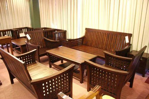 Teak Wood Sofa Set K A Kutties Wood Crafts