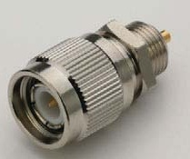 TNC Male Bulkhead Receptacle Connector Coaxial End
