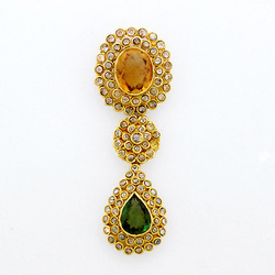Indian Ethnic Diamond Pendant