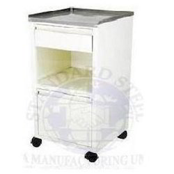 bedside cabinet with stainless steel top
