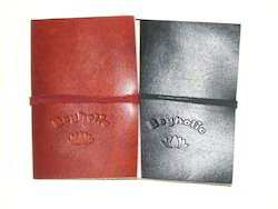 Embossed Logo Leather Journals
