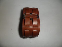 Cherry Color Leather Bracelet