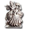 prem pratima white metal sculpture