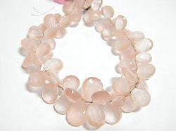 Rose+Quartz+Faceted+Pear+Briolettes