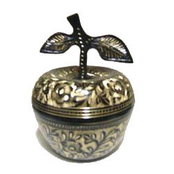 Brass Box Apple Shape