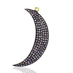 Diamond Half Moon Pendants