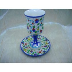 Decorative Cup & Plate Set