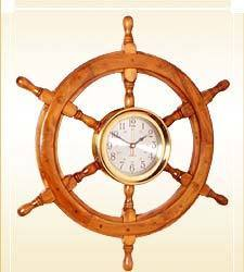 Ship Wheel with Clock