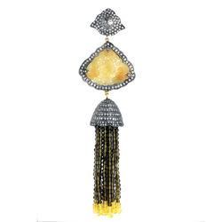 Smoky Quartz Beads Tassel Pendant