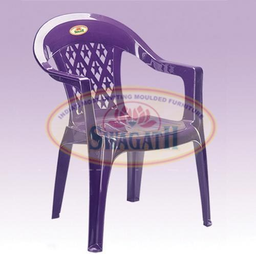 Plastic High Back Chair with Arms
