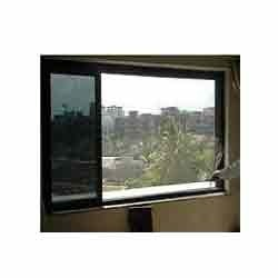 Fibre Glass Insect Screen On Window With Velcro