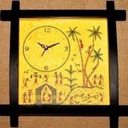 Clock With Warli Painting
