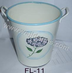 handpainted floral pot