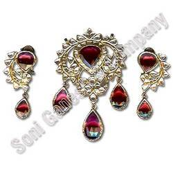Diamond Kundan Meena Jewellery