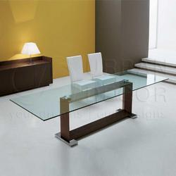 Monaco 10 Seater Glass Dining Table