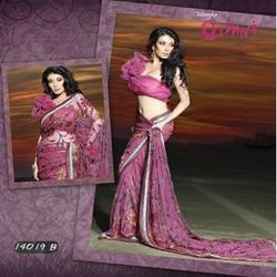 Magnificent Jaal Work Saree