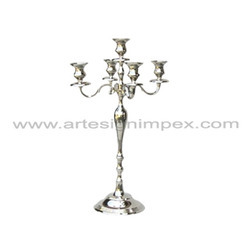 Silver Wedding 5 Light Candelabra Centerpiece