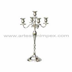 Silver Wedding 5 Light Candelabra Centerpiece
