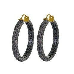 Precious Diamond Hoop Earrings