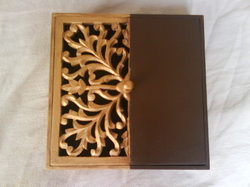 Wooden Carving Tissue Box