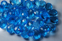 Swiss Color Quartz Faceted Pear Briolettes