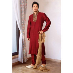 Silk Maroon Color Kurta Set.