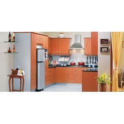 Godrej Modular Kitchens - Wooden-u Shape Big Kitchen, Metal Blue