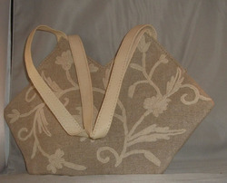 Crewel Handbag Tech Club Linen