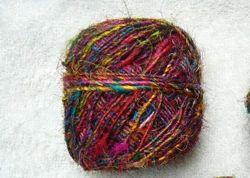 Multicolored Sari Silk Yarns