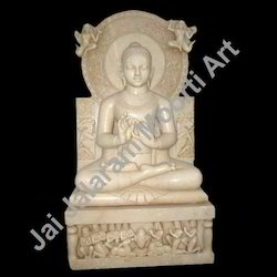 Pink Marble Buddha Statues