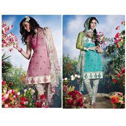 Embroidered Cotton Suit