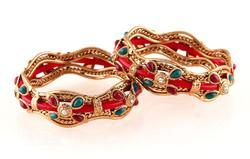 Antique Gold Plated Indian Bangles