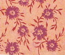 Floral Design Wood Block Printed Papers