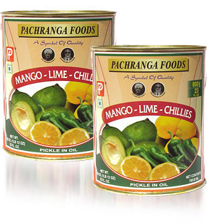 Pachranga Mango-Lime-Chillies Pickle