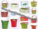 Handpainted Metal Planters & Tubs