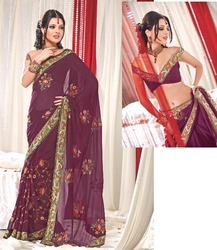 Indian Hand Embroidery Saree