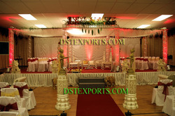 Wedding Eight Pillars Crystal Mandap