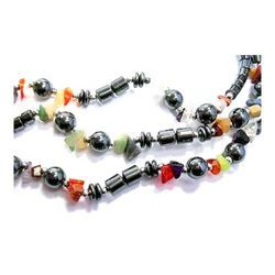 Colored Stone Anklets with Beads