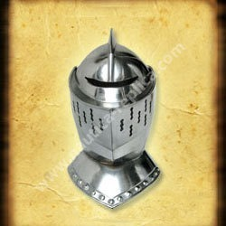 Medieval Knight Close Helmet