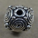 Sterling Silver Round Rava Beads