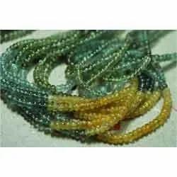 Moss Aquamarine Rondelles
