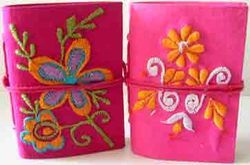 Embroidered Fabric Covered Note Pads In Various Sizes
