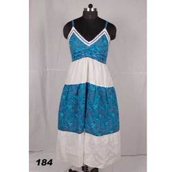 Combination of blue and White Fancy Dress