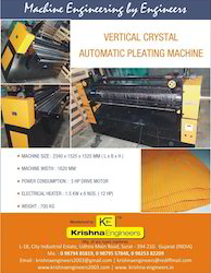 Vertical Crystal Automatic Pleating Machine